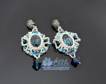 Blue Montana lace earrings FREE SHIPPING