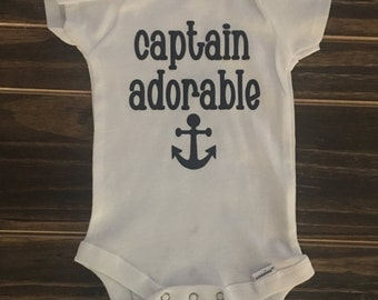 Captain Adorable Onesie, personalized gift