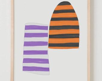 Fine Art Print.  Stripe Study Multicolored, November 10, 2017.
