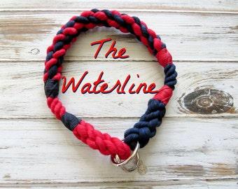 WATERLINE design Rope Collection - Dog Collar, Slip Collar, Training Collar, Snap hook Collar, Christmas Gift, Dog Gift