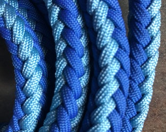 Paracord Reins Blue Pattern English/Western Riding