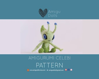 Pokemon crochet pattern, amigurumi pattern pokemon, Celebi pokemon, crochet patterns amigurumi, pokemon plush pattern, pokemon go pattern