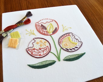 Regality hand embroidery pattern, modern embroidery, crewel, Jacobean, embroidery patterns, embroidery PDF, PDF pattern