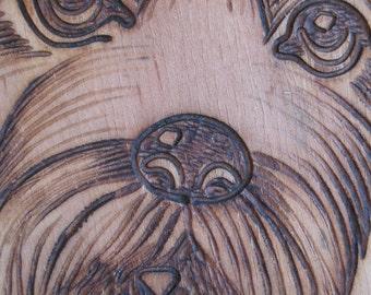 West Highland Dog Wood Plaque -  West Highland White Terrier - Wood burned plaque of dog - wall hanging of dog - dog plaque - dog wood piece