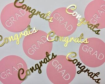 Congrats Grad - Graduation Confetti for High School and College Grad Parties!