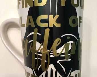 I find your lack of caffeine disturbing  coffee mug