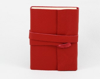 Red notebook for wrapping