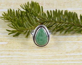 Seafoam Green Variscite Ring // Variscite Jewelry // Sterling Silver // Village Silversmith