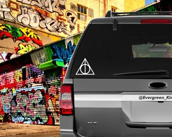 Deathly Hallows Harry Potter Decal 5 inch Pick a Color