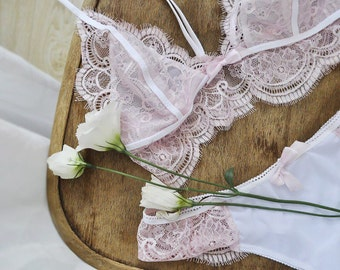 Italian lace lingerie set
