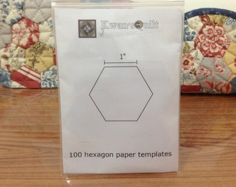 100 PCS - 1 inch Hexagon Paper Templates for English Paper Piecing