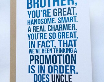 New Uncle Card / First Time Uncle / Baby Announcement / Family Baby Announcement / Pregnancy Reveal Card