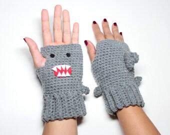 Shark Fingerless Gloves, Crochet Shark Week Mittens,  Animal Gloves, Winter Accessories,  Fantasy Wrist Warmers