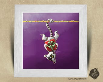 Frame square 25 x 25 with picture Maki Catta birth gift and gifts for kids baby room