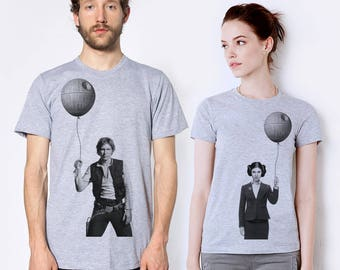 Star wars couples gift set, Business Princess Leia and Han Solo, husband and wife matching shirts,anniversary gift,his hers, Father's day