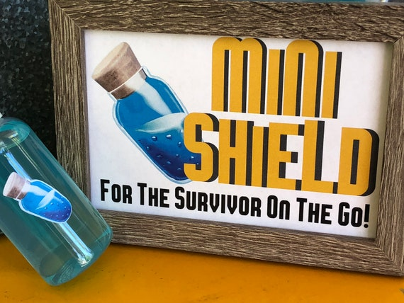 Fortnite Party Mini Shield Printable Fortnight Party Sign