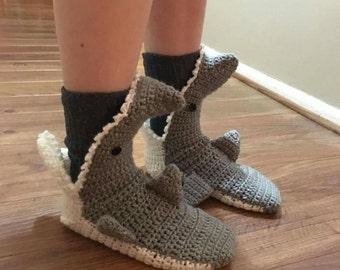 Custom Shark Slippers, Shark Socks, for Men, Women, Kids, and Baby, Handmade in the USA