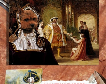 Norwich Terrier Art CANVAS Print Fine Artwork  Dog Portrait Dog Painting Dog Art Dog Print  Perfect Dog Lover Gift for Her Gift for Him