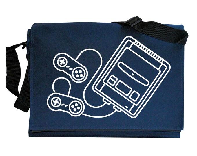 SNES Super Famicom Console inspired Navy Blue Messenger Shoulder Bag