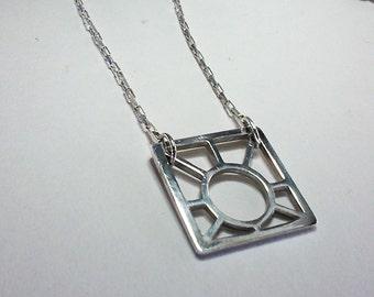 Necklace Sunshine square plate