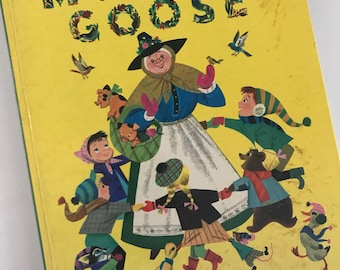 Vintage 1976 The Golden Mother Goose Book  - Golden Press - Illustrated by Alice and Martin Provensen