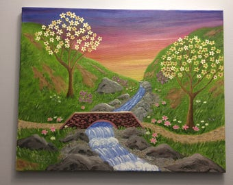 Valley of Serenity- Original Hand-painted Oil Painting