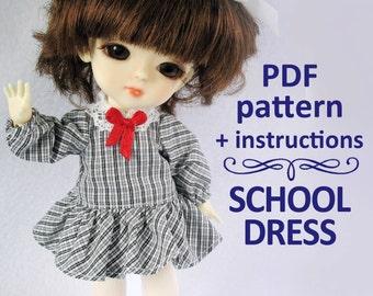 PDF pattern School dress for Lati yellow / PukiFee bjd