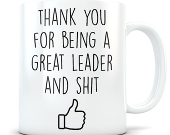 Leadership thank you gifts for men and women, leader gift, leadership gift, leader coffee mug, leader thank you, funny leadership gift