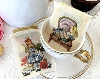 Alice in Wonderland Favor Bags |  Tea Party Color Onederland 3x4 | Girlie Designs | Goodie Bags | Tea Bag Holder | Tea Bag Envelope 36