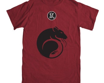Year of the Rat T-shirt  - Rudy Red Color (sizes small, Medium and large