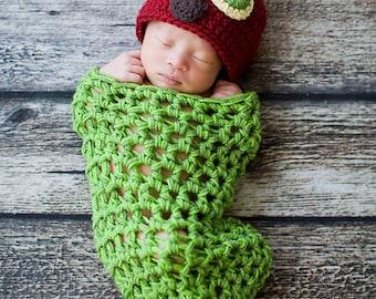 Caterpillar Cocoon and Hat | Newborn Photo Prop Costume | Caterpillar Costume | Animal Hat | Newborn Photography | Baby Costumes | Newborn