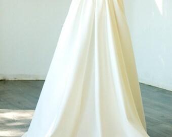 Custom made maxi Podanch wedding skirt, New Ivory/White Wedding skirt