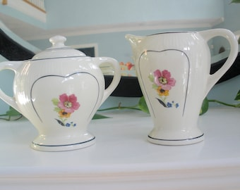 Beautiful Cream And Sugar Set From The 1930's