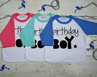 Birthday Shirts For Boys - Birthday Boy Shirt - Birthday Shirt- Birthday Boy - Boy Birthday Shirt - Raglan Sleeve - Toddler - Youth Shirt