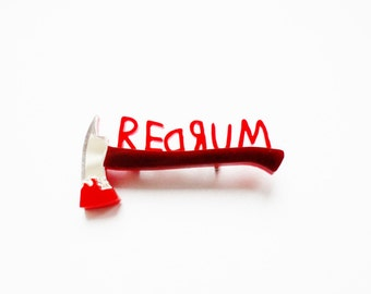 Redrum - The Shining inspired brooch