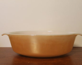 Fire King Peach Luster Casserole Dish