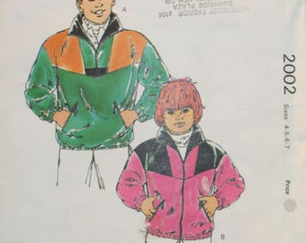 Child's Jacket Sewing Pattern - Boy's Jacket - Girl's Jacket - Kwik Sew 2002 - New - Uncut - Size 4 - 5 - 6 - 7