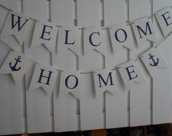 Welcome Home  Banner, Home Coming Banner,  Military Banner, Welcome Home Sign, Deployment Homecoming Banner, New Home, Housewarming