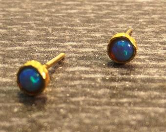 Small gold opal studs, Small studs, Opal studs, Minimalist studs, Opal posts,  Earrings, Post earrings, stud hypoallergenic, Tiny dot studs,