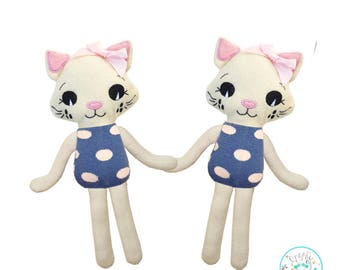 ITH Cat Toy Machine Embroidery Pattern Download, ITH kitten Stuffie Softie, in the hoop Doll Pattern, Cat pattern, In The Hoop, ITH doll