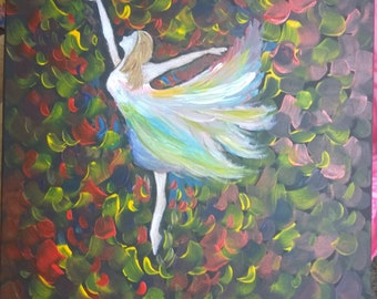 Canvas Acrylic Painting - Dancing Girl