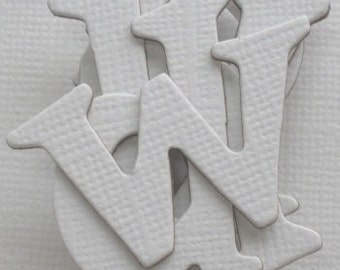 WHiTE -  Lowercase Chipboard Alphabet Letters diecuts