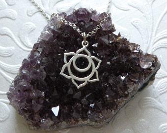 Sacral Chakra Necklace ~ Sterling Silver Charm Pendant ~ Second Chakra Pendant