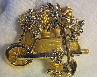 Garden Flower Cart Pendant