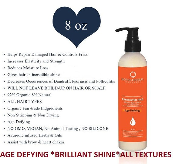 Honey Rose Otto Mint Conditioner 8 oz, Anti Aging, Age Defying, Brilliant Shine, Organic Conditioner, Organic Care, Rose Otto Conditioner