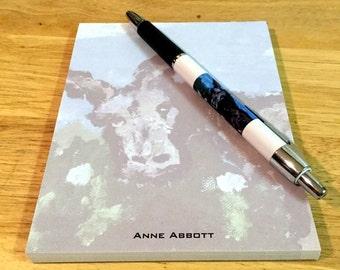 "Small ""Grumpy Donkey"" notepad with matching pen"