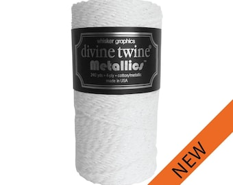 NEW**White and Silver Divine Twine   (240 yds)