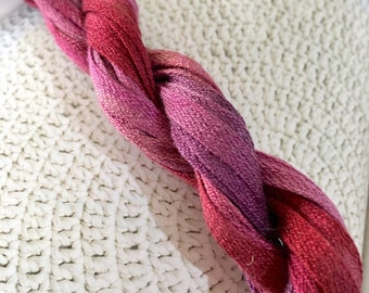 Tubular Silk Ribbon for Needlecraft, Embroidery, Cords and Braids 8 meters