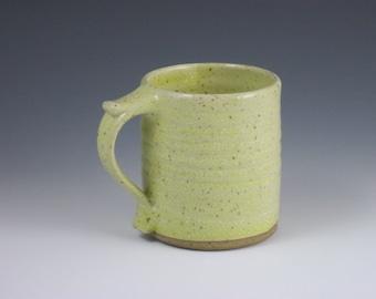 Glossy Pale Yellow Thumbrest Mug