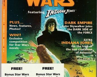 Star Wars #3 Comic Book British Edition-Indiana Jones-1992 Dark Horse Larger Format With Trading Cards-Han Solo Princess Leia Luke Skywalker
